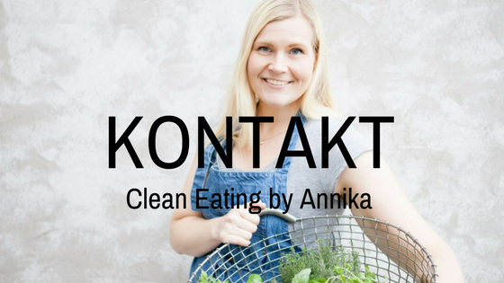 Kontakt Clean Eating by Annika