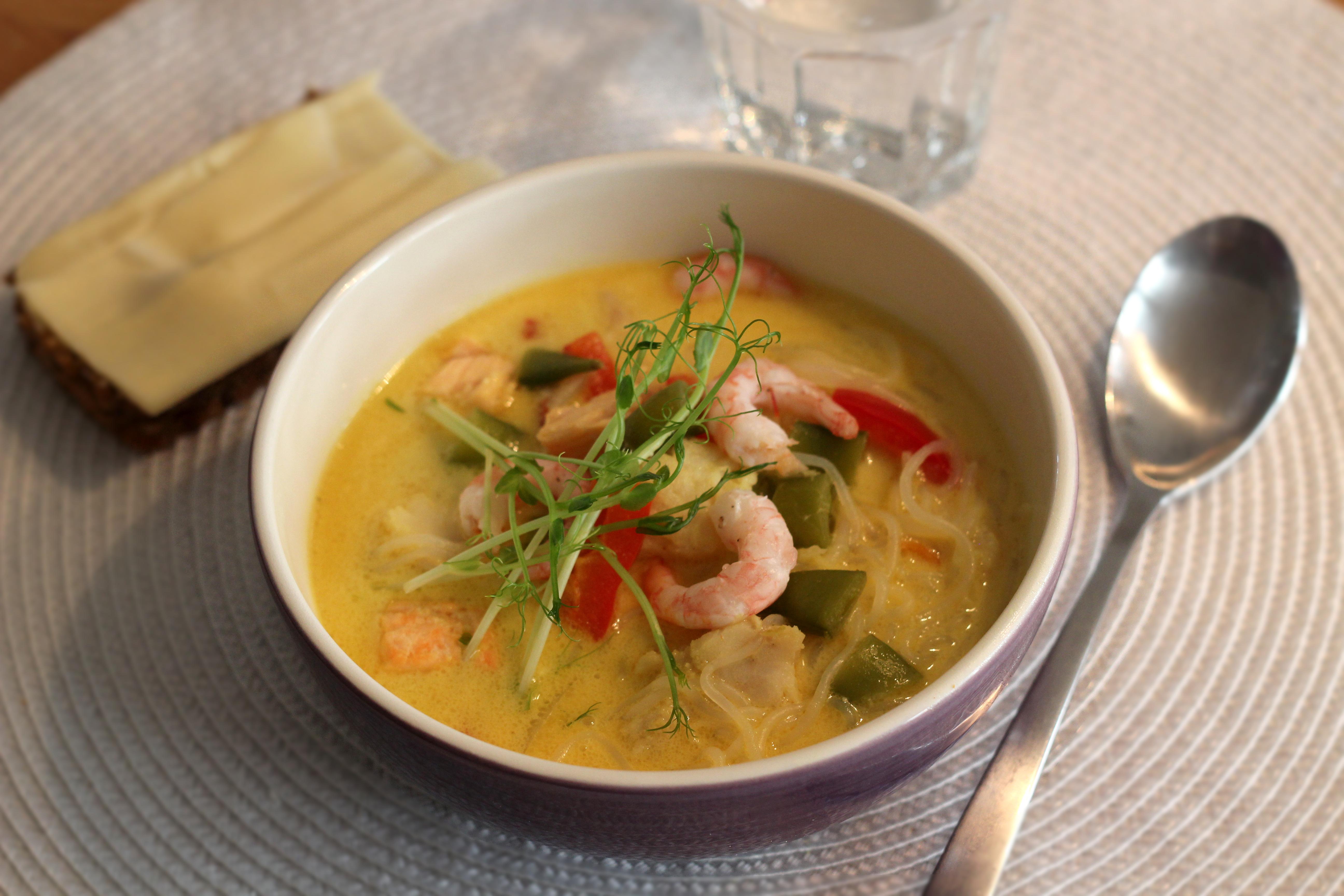 Asiatisk fisksoppa