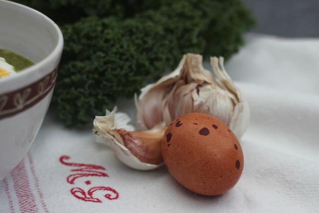 ägg,vitlök,grönkål