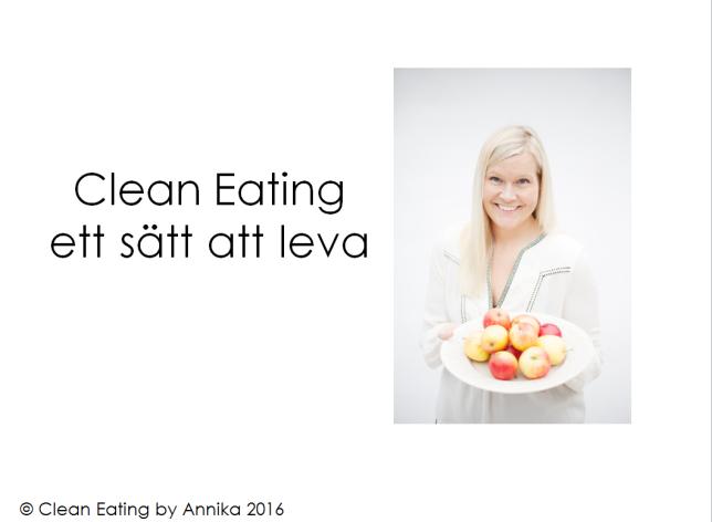 clean eating föreläsning