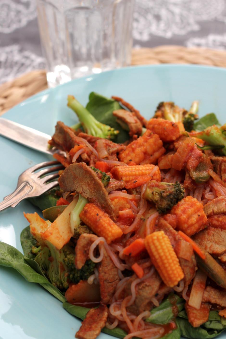biffgryta med curry och tomat