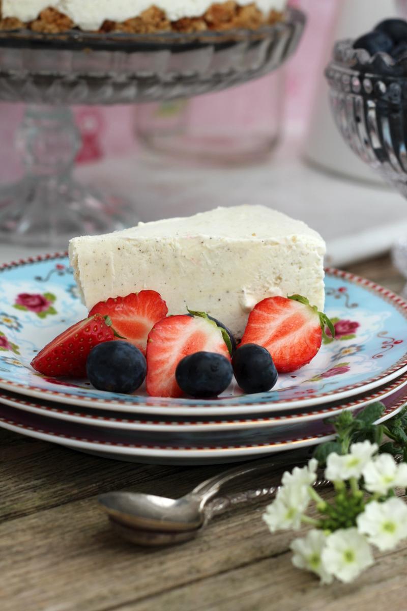 Cheesecake utan gluten och raffinerat socker