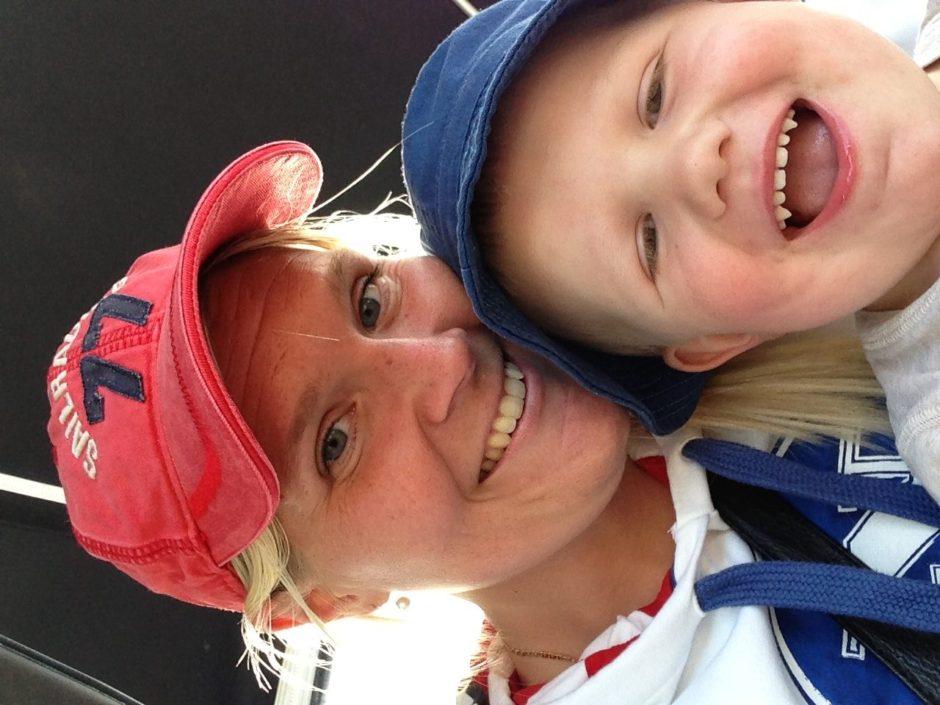 Jag och N på farfars båt sommars 2013.