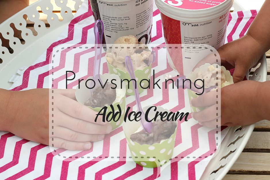 provsmakning add ice cream