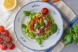 kycklingköttfärssås grönsaker