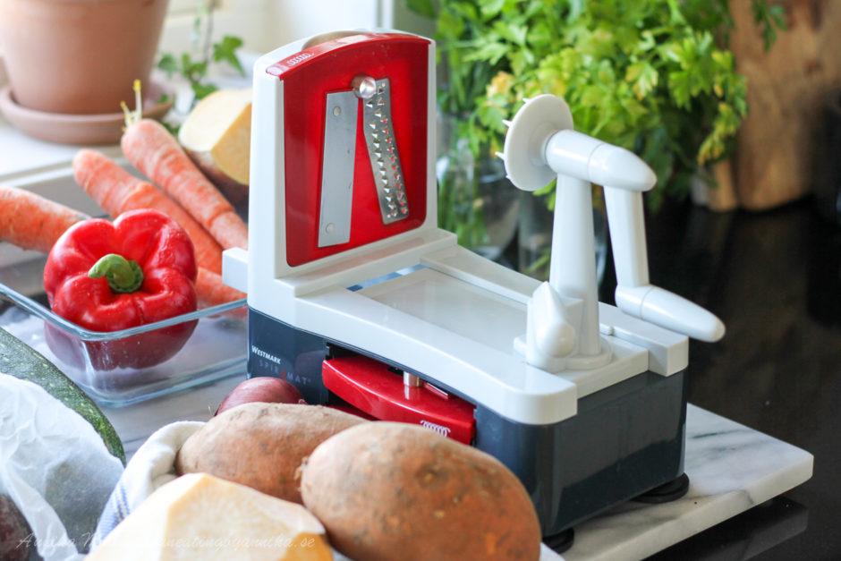 Grönsakssvarv för att göra nudlar av grönsaker