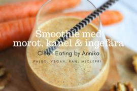 smoothie med morot, kanel och ingefära