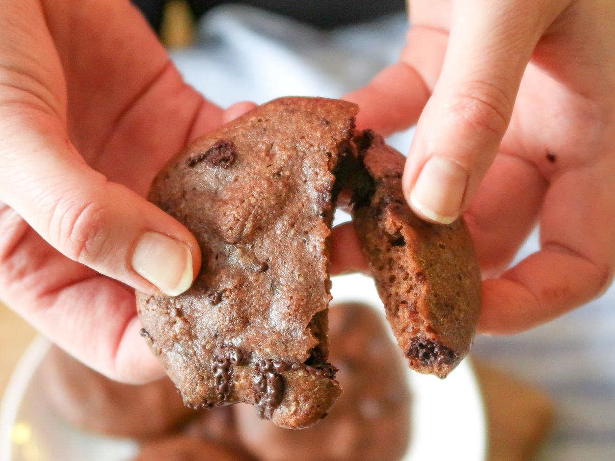 chokladcookies med mandelsmör lchf paleo clean