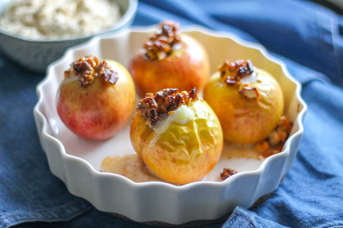 ugnsbakade äpplen cashewgrädde paleo vegan mjölkfri sockerfri