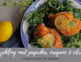 Kyckling med paprika, oregano & citron