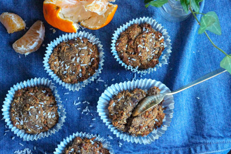 glutenfria sockerfria pepparkaksmuffins