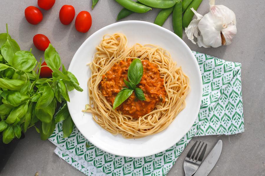 vegetarisk bolognese köttfärssås