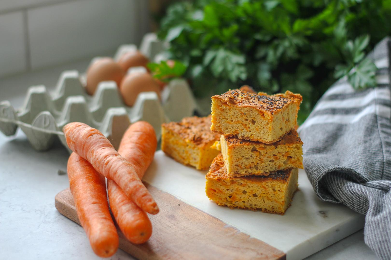 glutenfritt bröd med kikärtor och morot