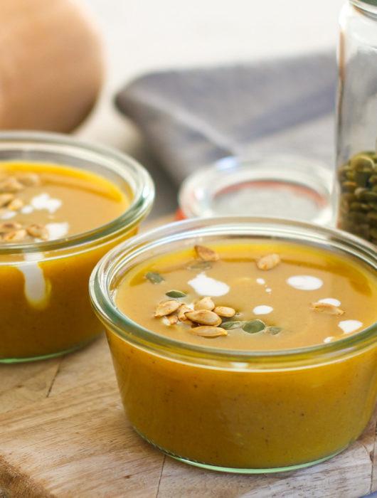 veganskt soppa butternut utan mjölk