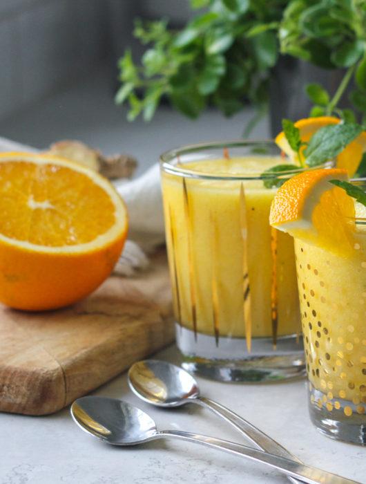 smoothie apelsin mynta